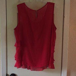 Liz Claiborne Tops - Red ruffled top